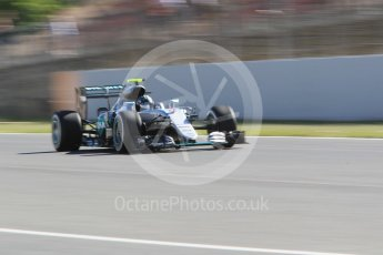 World © Octane Photographic Ltd. Mercedes AMG Petronas W07 Hybrid – Nico Rosberg. Friday 13th May 2016, F1 Spanish GP - Practice 1, Circuit de Barcelona Catalunya, Spain. Digital Ref : 1536CB1D7143