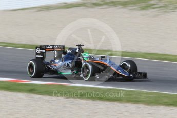 World © Octane Photographic Ltd. Sahara Force India VJM09 - Nico Hulkenberg. Friday 13th May 2016, F1 Spanish GP - Practice 1, Circuit de Barcelona Catalunya, Spain. Digital Ref : 1536CB1D7215