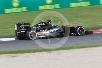 World © Octane Photographic Ltd. Sahara Force India VJM09 - Nico Hulkenberg. Friday 13th May 2016, F1 Spanish GP - Practice 1, Circuit de Barcelona Catalunya, Spain. Digital Ref : 1536CB1D7218