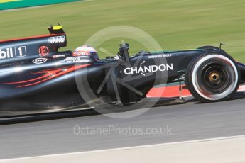World © Octane Photographic Ltd. McLaren Honda MP4-31 – Jenson Button. Friday 13th May 2016, F1 Spanish GP - Practice 1, Circuit de Barcelona Catalunya, Spain. Digital Ref : 1536CB1D7357
