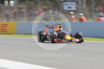 World © Octane Photographic Ltd. Red Bull Racing RB12 – Daniel Ricciardo. Friday 13th May 2016, F1 Spanish GP - Practice 1, Circuit de Barcelona Catalunya, Spain. Digital Ref : 1536CB1D7405