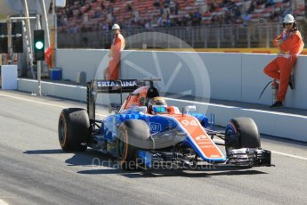 World © Octane Photographic Ltd. Manor Racing MRT05 - Pascal Wehrlein. Friday 13th May 2016, F1 Spanish GP - Practice 1, Circuit de Barcelona Catalunya, Spain. Digital Ref : 1536CB1D7472