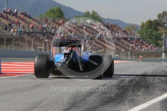 World © Octane Photographic Ltd. Manor Racing MRT05 - Pascal Wehrlein. Friday 13th May 2016, F1 Spanish GP - Practice 1, Circuit de Barcelona Catalunya, Spain. Digital Ref : 1536CB1D7480