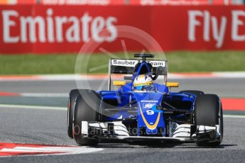 World © Octane Photographic Ltd. Sauber F1 Team C35 – Marcus Ericsson. Friday 13th May 2016, F1 Spanish GP - Practice 1, Circuit de Barcelona Catalunya, Spain. Digital Ref : 1536LB1D3855