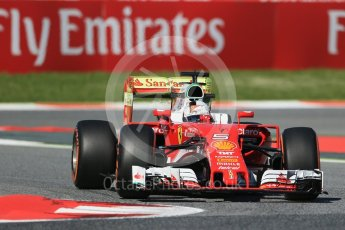 World © Octane Photographic Ltd. Scuderia Ferrari SF16-H – Sebastian Vettel. Friday 13th May 2016, F1 Spanish GP - Practice 1, Circuit de Barcelona Catalunya, Spain. Digital Ref : 1536LB1D3949
