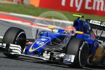 World © Octane Photographic Ltd. Sauber F1 Team C35 – Felipe Nasr. Friday 13th May 2016, F1 Spanish GP - Practice 1, Circuit de Barcelona Catalunya, Spain. Digital Ref : 1536LB1D4214