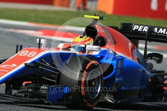World © Octane Photographic Ltd. Manor Racing MRT05 – Rio Haryanto. Friday 13th May 2016, F1 Spanish GP - Practice 1, Circuit de Barcelona Catalunya, Spain. Digital Ref : 1536LB1D4221