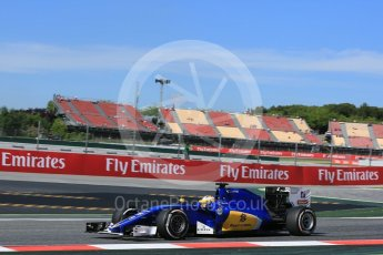 World © Octane Photographic Ltd. Sauber F1 Team C35 – Marcus Ericsson. Friday 13th May 2016, F1 Spanish GP - Practice 1, Circuit de Barcelona Catalunya, Spain. Digital Ref : 1536LB5D3103
