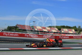 World © Octane Photographic Ltd. Red Bull Racing RB12 – Max Verstappen. Friday 13th May 2016, F1 Spanish GP - Practice 1, Circuit de Barcelona Catalunya, Spain. Digital Ref : 1536LB5D3117