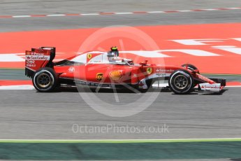 World © Octane Photographic Ltd. Scuderia Ferrari SF16-H – Kimi Raikkonen. Friday 13th May 2016, F1 Spanish GP - Practice 2, Circuit de Barcelona Catalunya, Spain. Digital Ref : 1539CB1D8083