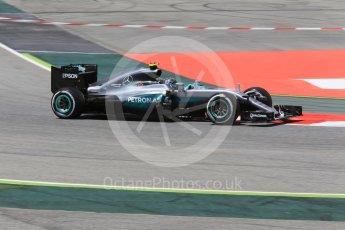World © Octane Photographic Ltd. Mercedes AMG Petronas W07 Hybrid – Nico Rosberg. Friday 13th May 2016, F1 Spanish GP - Practice 2, Circuit de Barcelona Catalunya, Spain. Digital Ref : 1539CB1D8272