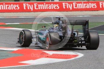 World © Octane Photographic Ltd. Mercedes AMG Petronas W07 Hybrid – Lewis Hamilton. Friday 13th May 2016, F1 Spanish GP Practice 2, Circuit de Barcelona Catalunya, Spain. Digital Ref : 1539CB1D8570