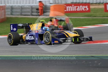 World © Octane Photographic Ltd. DAMS - GP2/11 – Nicholas Latifi and Racing Engineering – Norman Nato. Friday 13th May 2016, GP2 Qualifying, Circuit de Barcelona Catalunya, Spain. Digital Ref :1541CB7D6943