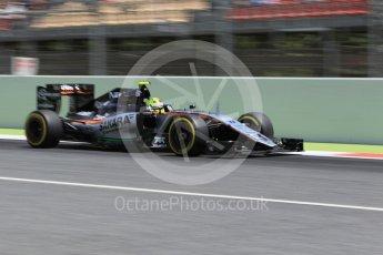 World © Octane Photographic Ltd. Sahara Force India VJM09 - Sergio Perez. Saturday 14th May 2016, F1 Spanish GP - Qualifying, Circuit de Barcelona Catalunya, Spain. Digital Ref : 1546CB1D9794