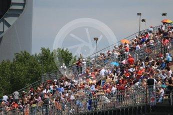 World © Octane Photographic Ltd. Fans. Saturday 14th May 2016, F1 Spanish GP - Qualifying, Circuit de Barcelona Catalunya, Spain. Digital Ref : 1546CB7D7432