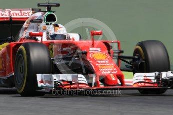 World © Octane Photographic Ltd. Scuderia Ferrari SF16-H – Sebastian Vettel. Saturday 14th May 2016, F1 Spanish GP - Qualifying, Circuit de Barcelona Catalunya, Spain. Digital Ref : 1546CB7D7579
