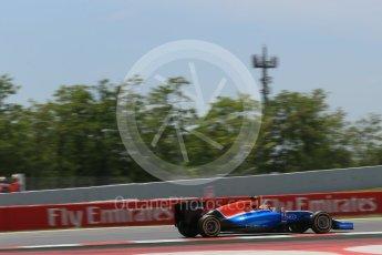 World © Octane Photographic Ltd. Manor Racing MRT05 – Rio Haryanto. Saturday 14th May 2016, F1 Spanish GP - Qualifying, Circuit de Barcelona Catalunya, Spain. Digital Ref : 1546LB1D6751