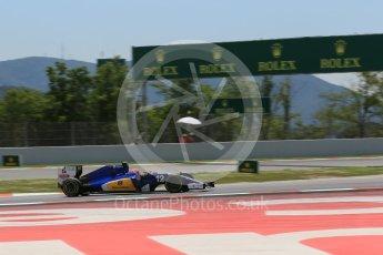 World © Octane Photographic Ltd. Sauber F1 Team C35 – Felipe Nasr. Saturday 14th May 2016, F1 Spanish GP - Qualifying, Circuit de Barcelona Catalunya, Spain. Digital Ref : 1546LB1D6902