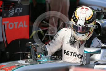 World © Octane Photographic Ltd. Mercedes AMG Petronas W07 Hybrid – Lewis Hamilton. Saturday 14th May 2016, F1 Spanish GP - Qualifying, Circuit de Barcelona Catalunya, Spain. Digital Ref : 1546LB1D7022