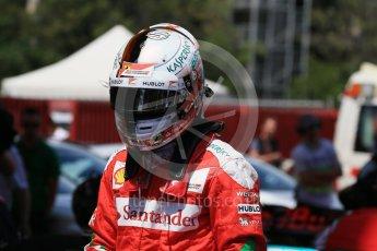 World © Octane Photographic Ltd. Scuderia Ferrari SF16-H – Sebastian Vettel. Saturday 14th May 2016, F1 Spanish GP - Qualifying, Circuit de Barcelona Catalunya, Spain. Digital Ref : 1546LB1D7117