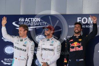 World © Octane Photographic Ltd. Mercedes AMG Petronas W07 Hybrid – Lewis Hamilton, Nico Rosberg and Red Bull Racing RB12 – Daniel Ricciardo. Saturday 14th May 2016, F1 Spanish GP - Qualifying, Circuit de Barcelona Catalunya, Spain. Digital Ref : 1546LB1D7220