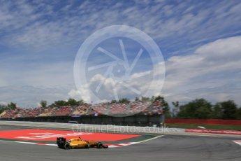 World © Octane Photographic Ltd. Renault Sport F1 Team RS16 – Jolyon Palmer. Saturday 14th May 2016, F1 Spanish GP - Qualifying, Circuit de Barcelona Catalunya, Spain. Digital Ref : 1546LB5D4194