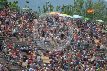 World © Octane Photographic Ltd. Fans. Sunday 15th May 2016, F1 Spanish GP Race, Circuit de Barcelona Catalunya, Spain. Digital Ref :