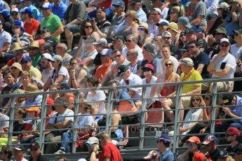 World © Octane Photographic Ltd. Fans in grandstand K. Sunday 15th May 2016, F1 Spanish GP Race, Circuit de Barcelona Catalunya, Spain. Digital Ref :