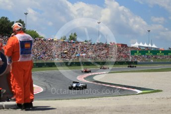 World © Octane Photographic Ltd. Scuderia Toro Rosso STR11 – Carlos Sainz leads the 2 Ferraris in turn 7. Sunday 15th May 2016, F1 Spanish GP Race, Circuit de Barcelona Catalunya, Spain. Digital Ref :
