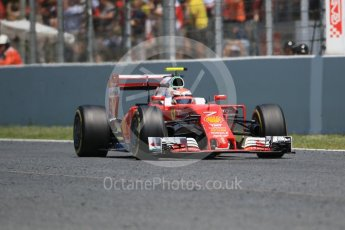 World © Octane Photographic Ltd. Scuderia Ferrari SF16-H – Kimi Raikkonen. Sunday 15th May 2016, F1 Spanish GP Race, Circuit de Barcelona Catalunya, Spain. Digital Ref :