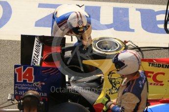 World © Octane Photographic Ltd. Trident - GP2/11 –Philo Paz Armand retires. Sunday 15th May 2016, GP2 Race 2, Circuit de Barcelona Catalunya, Spain. Digital Ref : 1551CB1D0967
