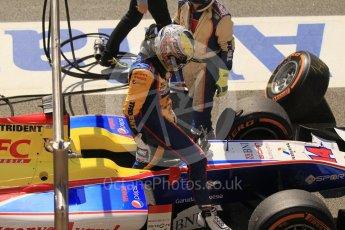 World © Octane Photographic Ltd. Trident - GP2/11 –Philo Paz Armand retires. Sunday 15th May 2016, GP2 Race 2, Circuit de Barcelona Catalunya, Spain. Digital Ref : 1551CB1D0976