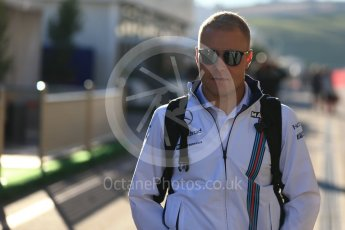 World © Octane Photographic Ltd. Williams Martini Racing, Williams Mercedes FW38 – Valtteri Bottas. Friday 21st October 2016, F1 USA Grand Prix Paddock, Austin, Texas – Circuit of the Americas (COTA). Digital Ref : 1741LB2D4813