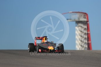 World © Octane Photographic Ltd. Red Bull Racing RB12 – Daniel Ricciardo. Friday 21st October 2016, F1 USA Grand Prix Practice 1, Austin, Texas – Circuit of the Americas (COTA). Digital Ref :1742LB1D9758
