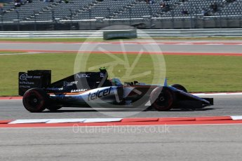 World © Octane Photographic Ltd. Sahara Force India VJM09 Development Driver – Alfonso Celis. Friday 21st October 2016, F1 USA Grand Prix Practice 1, Austin, Texas – Circuit of the Americas (COTA). Digital Ref :1742LB2D4903