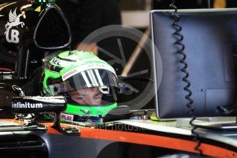 World © Octane Photographic Ltd. Sahara Force India VJM09 - Nico Hulkenberg. Saturday 22nd October 2016, F1 USA Grand Prix Practice 3, Austin, Texas – Circuit of the Americas (COTA). Digital Ref :1745LB1D1819
