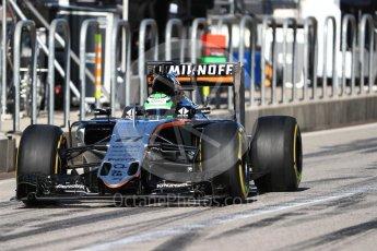 World © Octane Photographic Ltd. Sahara Force India VJM09 - Nico Hulkenberg. Saturday 22nd October 2016, F1 USA Grand Prix Practice 3, Austin, Texas – Circuit of the Americas (COTA). Digital Ref :1745LB1D1908