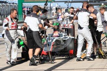 World © Octane Photographic Ltd. Haas F1 Team VF-16 – Romain Grosjean. Saturday 22nd October 2016, F1 USA Grand Prix Practice 3, Austin, Texas – Circuit of the Americas (COTA). Digital Ref :1745LB1D2432