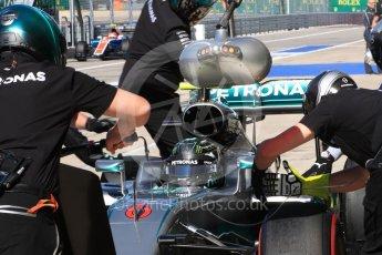 World © Octane Photographic Ltd. Mercedes AMG Petronas W07 Hybrid – Nico Rosberg. Saturday 22nd October 2016, F1 USA Grand Prix Practice 3, Austin, Texas – Circuit of the Americas (COTA). Digital Ref :1745LB1D2676