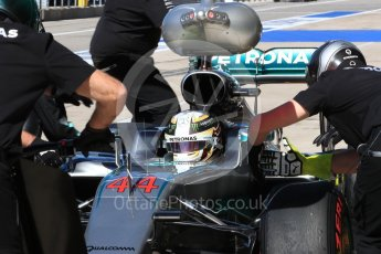 World © Octane Photographic Ltd. Mercedes AMG Petronas W07 Hybrid – Lewis Hamilton. Saturday 22nd October 2016, F1 USA Grand Prix Practice 3, Austin, Texas – Circuit of the Americas (COTA). Digital Ref :1745LB1D2690
