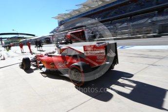 World © Octane Photographic Ltd. Scuderia Ferrari SF16-H – Kimi Raikkonen. Saturday 22nd October 2016, F1 USA Grand Prix Practice 3, Austin, Texas – Circuit of the Americas (COTA). Digital Ref :1745LB2D5333