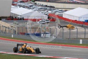World © Octane Photographic Ltd. Renault Sport F1 Team RS16 - Kevin Magnussen. Sunday 23rd October 2016, F1 USA Grand Prix Race, Austin, Texas – Circuit of the Americas (COTA). Digital Ref :1749LB1D3794