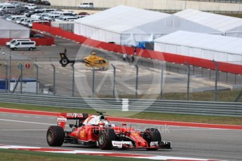 World © Octane Photographic Ltd. Scuderia Ferrari SF16-H – Sebastian Vettel. Sunday 23rd October 2016, F1 USA Grand Prix Race, Austin, Texas – Circuit of the Americas (COTA). Digital Ref :1749LB1D3884
