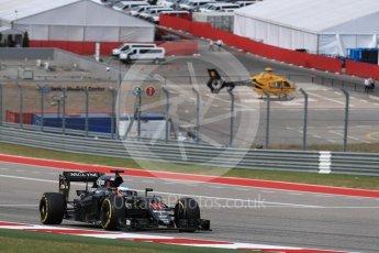 World © Octane Photographic Ltd. McLaren Honda MP4-31 – Fernando Alonso. Sunday 23rd October 2016, F1 USA Grand Prix Race, Austin, Texas – Circuit of the Americas (COTA). Digital Ref :1749LB1D3909