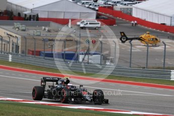 World © Octane Photographic Ltd. McLaren Honda MP4-31 – Jenson Button. Sunday 23rd October 2016, F1 USA Grand Prix Race, Austin, Texas – Circuit of the Americas (COTA). Digital Ref :1749LB1D3918