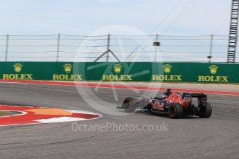 World © Octane Photographic Ltd. Scuderia Toro Rosso STR11 – Carlos Sainz. Sunday 23rd October 2016, F1 USA Grand Prix Race, Austin, Texas – Circuit of the Americas (COTA). Digital Ref : 1749LB1D4004