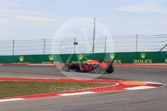 World © Octane Photographic Ltd. Red Bull Racing RB12 – Daniel Ricciardo. Sunday 23rd October 2016, F1 USA Grand Prix Race, Austin, Texas – Circuit of the Americas (COTA). Digital Ref : 1749LB1D4019