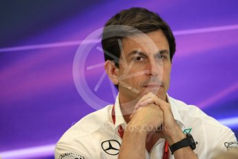 World © Octane Photographic Ltd. F1 USA Grand Prix Practice 2, Austin Texas – Circuit of the Americas (COTA) FIA Personnel Press Conference. Friday 21st October 2016. Toto Wolff - Mercedes AMG Petronas Executive Director. Digital Ref :1744LB1D1493