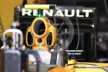 World © Octane Photographic Ltd. Renault Sport F1 Team RS16 intake. Thursday 20th October 2016, F1 USA Grand Prix, Austin, Texas – Circuit of the Americas (COTA). Digital Ref :