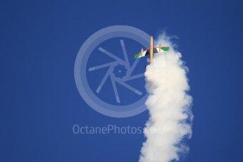 World © Octane Photographic Ltd. UAE Al Fursan (The Knights) Air Display Team – Aermacchi MB-339A. Saturday 25th November 2017, F1 Abu Dhabi GP - Yas Marina circuit, Abu Dhabi. Digital Ref : 2011CB1L8014